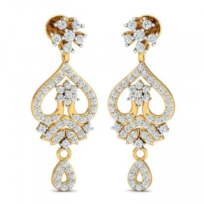 CAROLYNN DIAMOND DROPS EARRINGS in 18K Gold