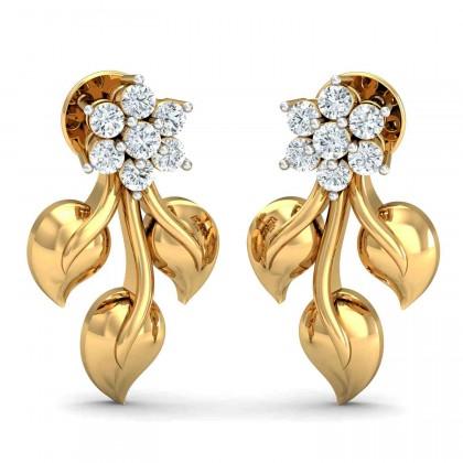 LASHAWN DIAMOND DROPS EARRINGS in 18K Gold