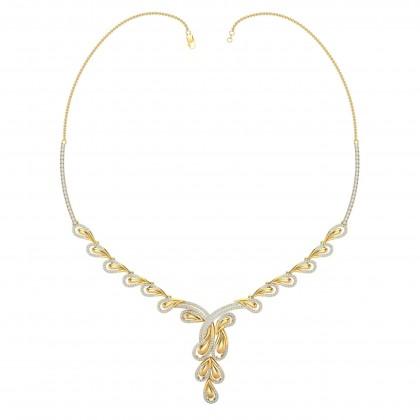 SARI DIAMOND  NECKLACE in 18K Gold