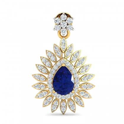 LETICIA DIAMOND DROPS EARRINGS in Sapphire & 18K Gold