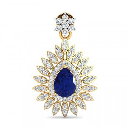 LETICIA DIAMOND DROPS EARRINGS in Sapphire & 18K Gold