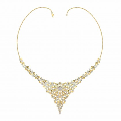 ALETA DIAMOND  NECKLACE in 18K Gold