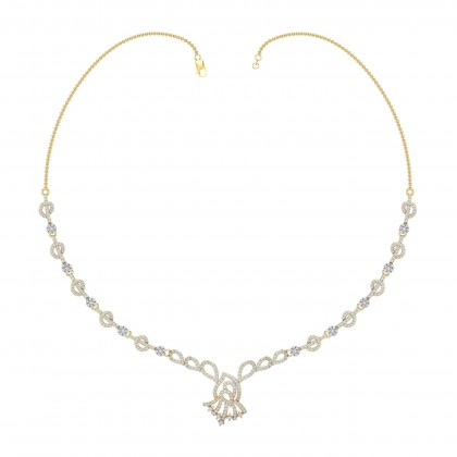 KIRSTIE DIAMOND  NECKLACE in 18K Gold