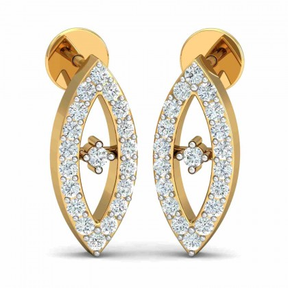 JEANETT DIAMOND DROPS EARRINGS in 18K Gold