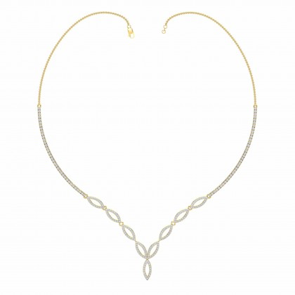 LISANDRA DIAMOND  NECKLACE in 18K Gold