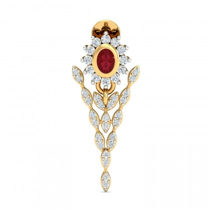 MARIANN DIAMOND DROPS EARRINGS in Ruby & 18K Gold