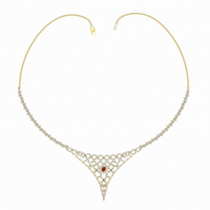 MACIE DIAMOND  NECKLACE in Ruby & 18K Gold