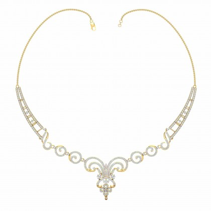 MARYAM DIAMOND  NECKLACE in 18K Gold