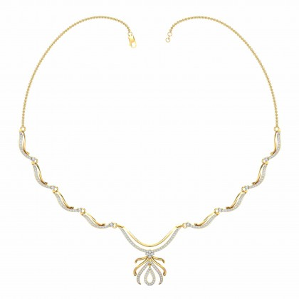 WINONA DIAMOND  NECKLACE in 18K Gold