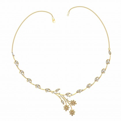 KELLE DIAMOND  NECKLACE in 18K Gold