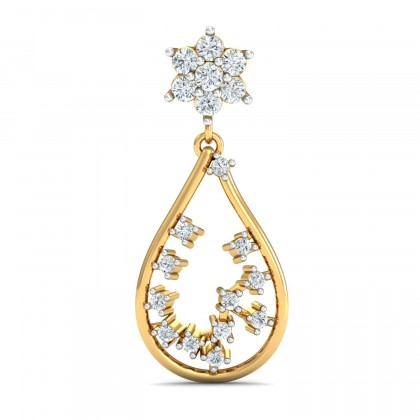 JUDIE DIAMOND DROPS EARRINGS in 18K Gold