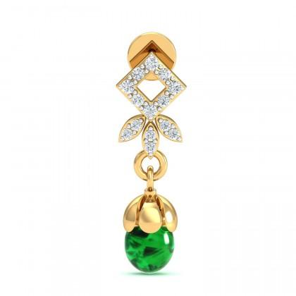 LYNELL DIAMOND DROPS EARRINGS in 18K Gold