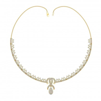 ISA DIAMOND  NECKLACE in 18K Gold