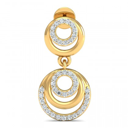 FRANCINE DIAMOND DROPS EARRINGS in 18K Gold