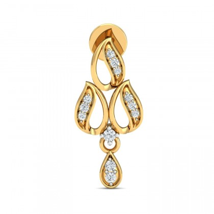 EVALYN DIAMOND DROPS EARRINGS in 18K Gold