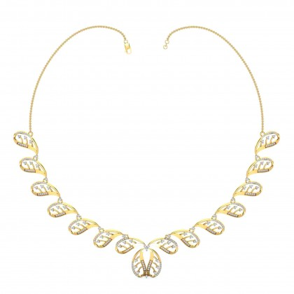 SOCORRO DIAMOND  NECKLACE in 18K Gold