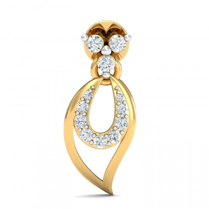 MARJORIE DIAMOND DROPS EARRINGS in 18K Gold