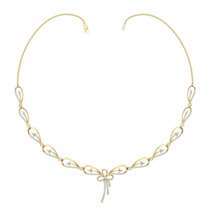 NELLY DIAMOND  NECKLACE in 18K Gold