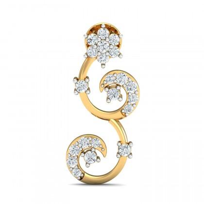 JULIA DIAMOND DROPS EARRINGS in 18K Gold
