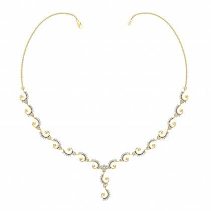 QUEENIE DIAMOND  NECKLACE in 18K Gold