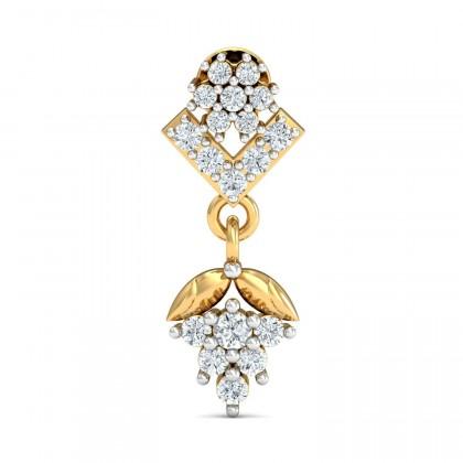 ALBERTHA DIAMOND DROPS EARRINGS in 18K Gold