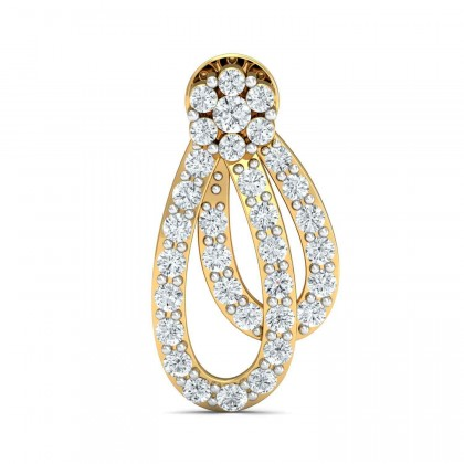 SHEILAH DIAMOND DROPS EARRINGS in 18K Gold