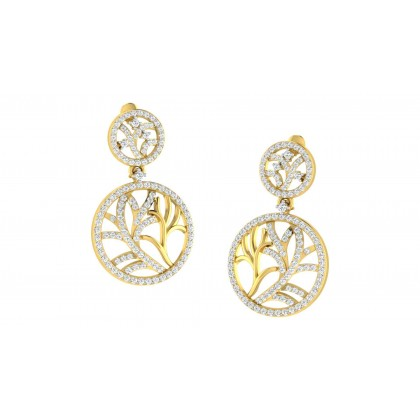 CORNELIA DIAMOND DROPS EARRINGS in 18K Gold