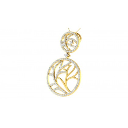 NATIVIDAD DIAMOND FLORAL PENDANT in 18K Gold