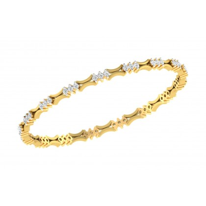CLARIS DIAMOND  BANGLE in 18K Gold