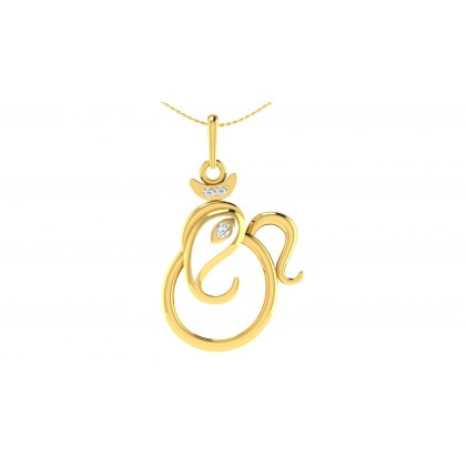 SHARAMA DIAMOND RELIGIOUS PENDANT in 18K Gold