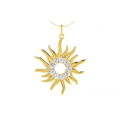 CHANGLA DIAMOND RELIGIOUS PENDANT in 18K Gold