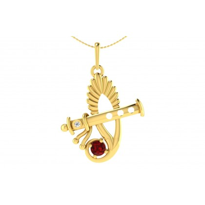 KALI DIAMOND RELIGIOUS PENDANT in 18K Gold