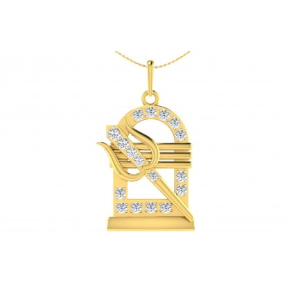 INDUMATI DIAMOND RELIGIOUS PENDANT in 18K Gold