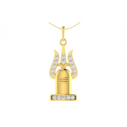 MAHESA DIAMOND RELIGIOUS PENDANT in 18K Gold