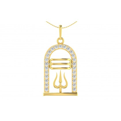 VASANTI DIAMOND RELIGIOUS PENDANT in 18K Gold