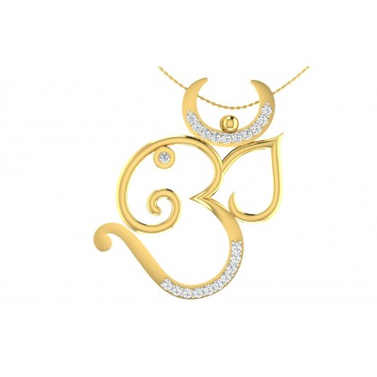 JIA DIAMOND RELIGIOUS PENDANT in 18K Gold