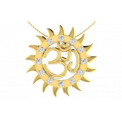 SHITALA DIAMOND RELIGIOUS PENDANT in 18K Gold