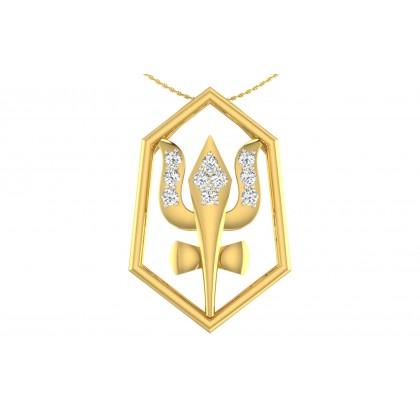 AJAYA DIAMOND RELIGIOUS PENDANT in 18K Gold