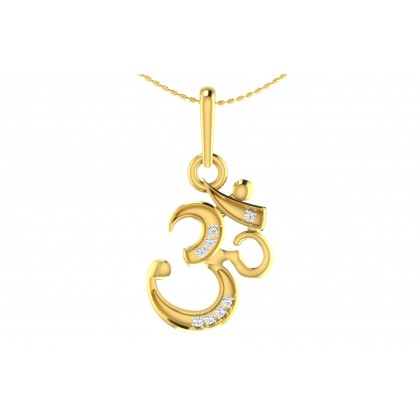 SAMVARTA DIAMOND RELIGIOUS PENDANT in 18K Gold