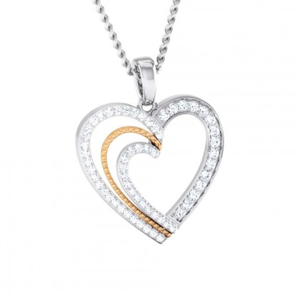 SONYA   DIAMOND HEARTS PENDANT in 18K Gold