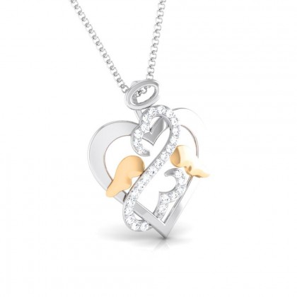 ROSALINE   DIAMOND HEARTS PENDANT in 18K Gold