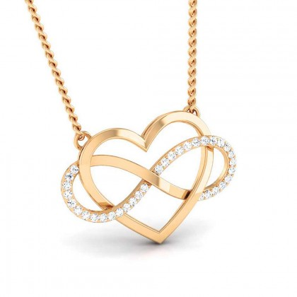 MARYAM   DIAMOND HEARTS PENDANT in 18K Gold