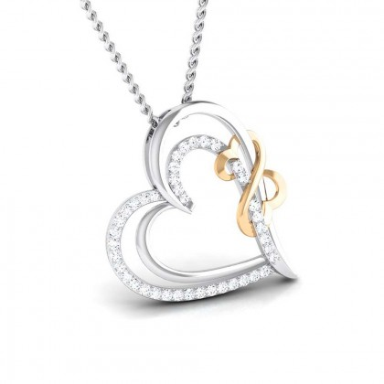 NOBUKO   DIAMOND HEARTS PENDANT in 18K Gold