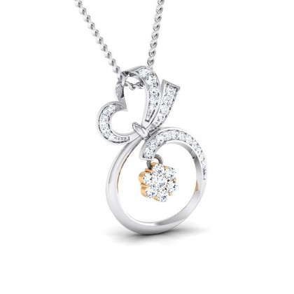 PHUNG   DIAMOND HEARTS PENDANT in 18K Gold