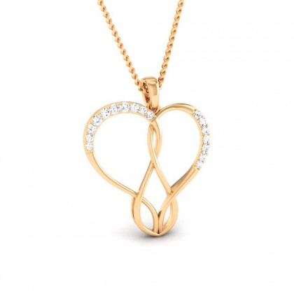 BARRIE   DIAMOND HEARTS PENDANT in 18K Gold