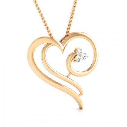 WINONA   DIAMOND HEARTS PENDANT in 18K Gold