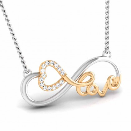 KEMBERLY   DIAMOND HEARTS PENDANT in 18K Gold