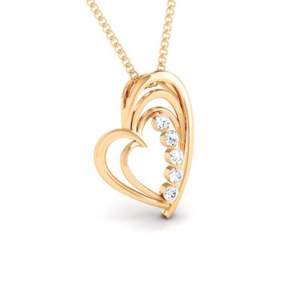MALORIE   DIAMOND HEARTS PENDANT in 18K Gold