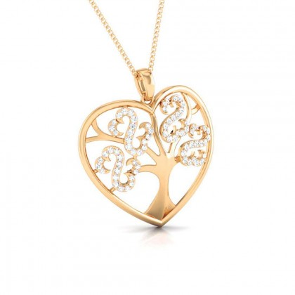 LETICIA   DIAMOND HEARTS PENDANT in 18K Gold