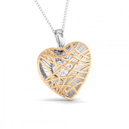 TAM   DIAMOND HEARTS PENDANT in 18K Gold